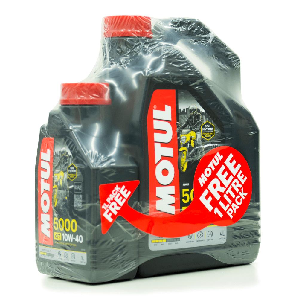 5000 10W40 4T 4L Promo Pack
