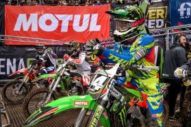 A winning start for Team Green Kawasaki at Arenacross